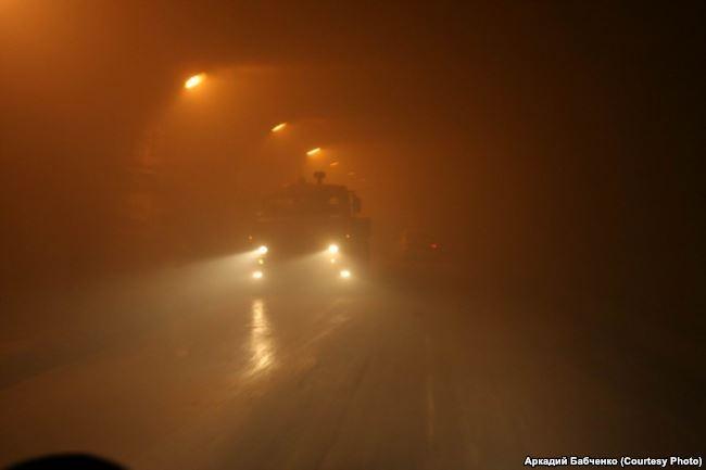 Российские войска в Рокском тоннеле на пути из Северной Осетии в Южную