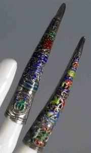 Старинные китайские хучжи, серебро, эмаль