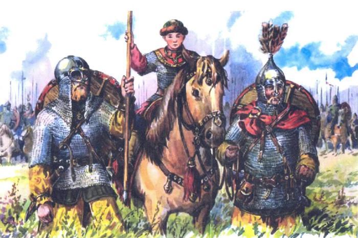 Свенельд с внуком Святославом и воеводой Асмудом)) (Иллюстрация из открытых источников)
