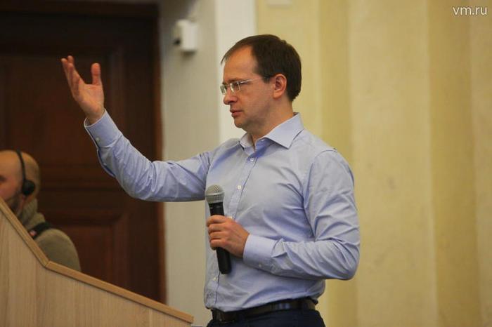 Министр культуры России Владимир Мединский читает лекцию в Государственном историческом музее.