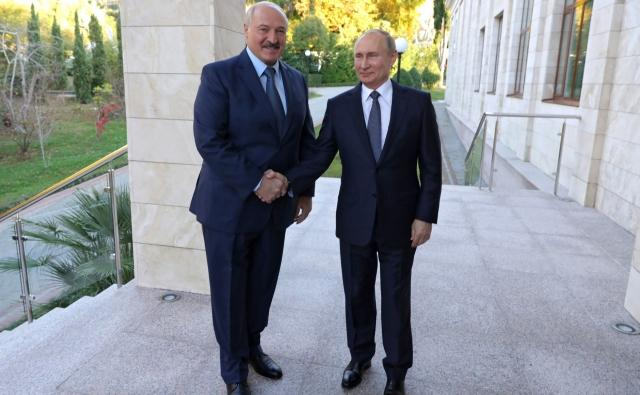 Александр Лукашенко и Владимир Путин. 7 декабря 2019 года, Сочи