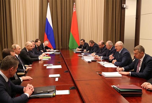 Российско-белорусские переговоры. 7 декабря 2019 года, Сочи