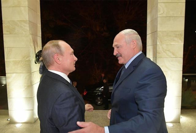 Владимир Путин и Александр Лукашенко. 7 декабря 2019 года, Сочи