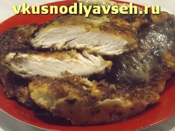куриное филе жаренное в сухарях