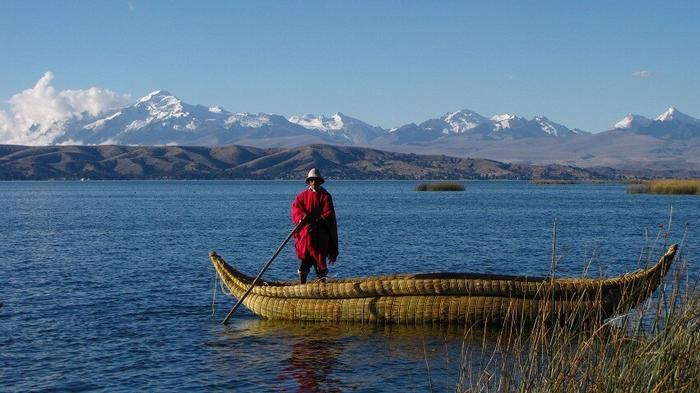 Озеро в Южной Америке