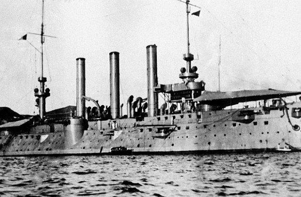 Американский крейсер в порту Владивостока. 1918 год. Фото: РИА