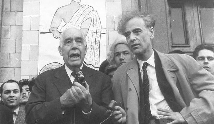 Нильс Бор и Лев Ландау на Дне Архимеда на физфаке МГУ, май 1961 г. («Троицкий вариант» №23, 2019)