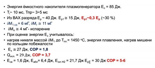 Рис. 10. Оценки энергетического баланса из экспериментальных данных