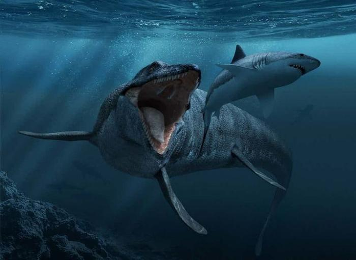 13. Мозазавр гигант, животные, планета