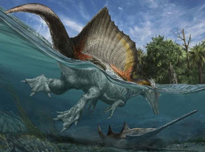 3. Спинозавр гигант, животные, планета