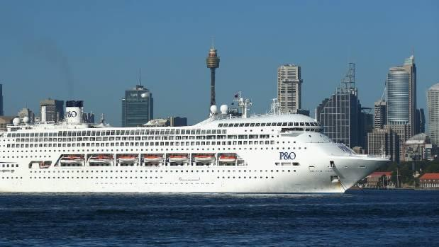 The Pacific Dawn is seen moored in Sydney Harbour.