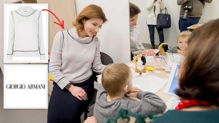 Марина Порошенко в свитере от Armani, фото: facebook.com