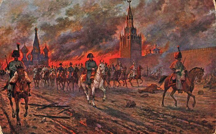 В. Мазуровский. Наполеон оставляет Москву
