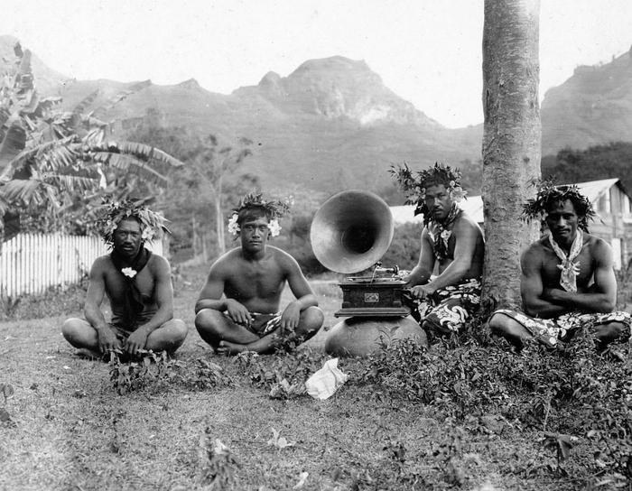 Жители Маркизских островов во Французской Полинезии, 1907