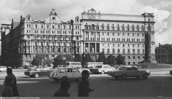Фото: здание КГБ СССР на площади Дзержинского (Лубянской площади) в 1972-1973 году