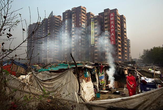 Многие далиты живут в трущобах на окраинах мегаполисов