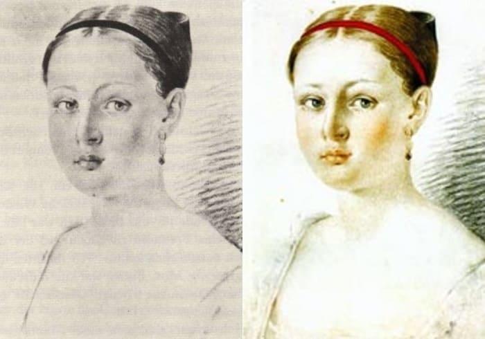 А. Маньяни. Портрет А. Г. Чернышевой, 1816 | Фото: birmaga.ru и nkj.ru