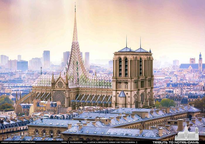 Первый проект реконструкции Собора Парижской Богоматери после ужасного пожара