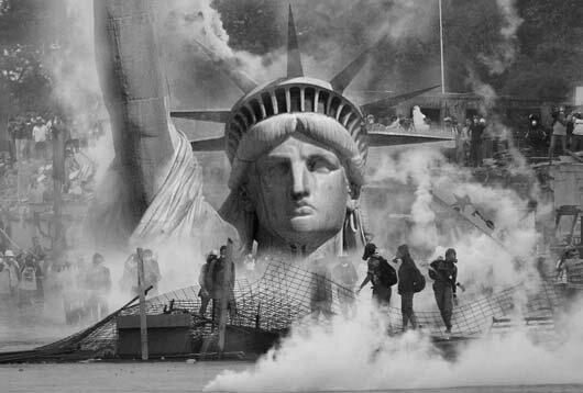 США погрязли во внутренних раздорах и насилии. Коллаж с pixabay.com