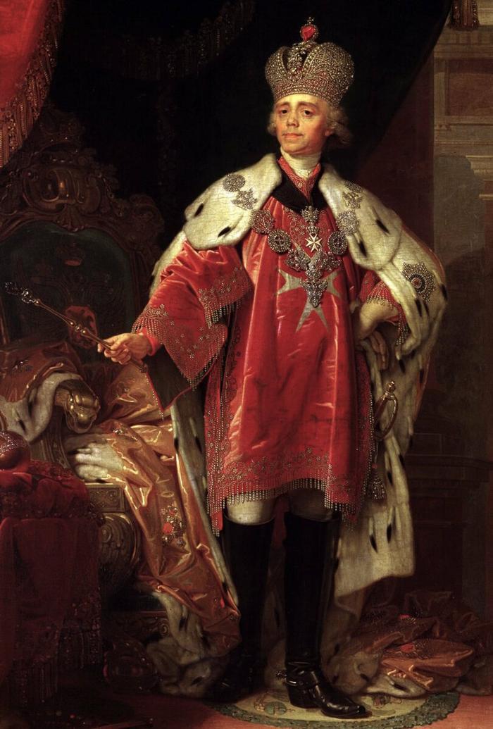 Павел I в облачении магистра Мальтийского ордена