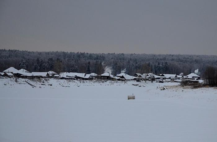 Деревня Шантальская. Основана в начале XX века на излучине реки Пелым