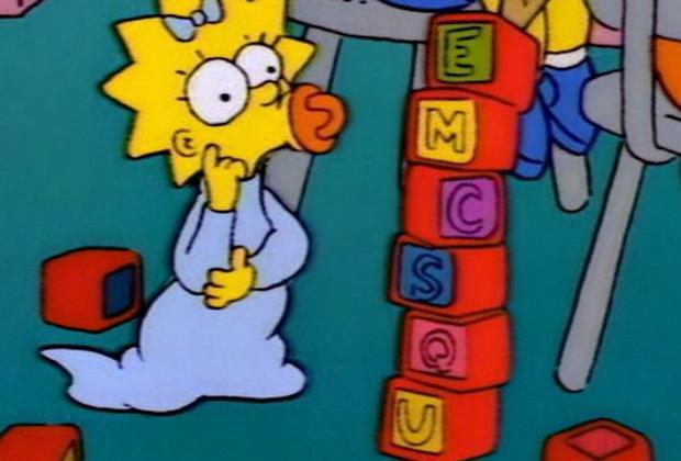 Кадр из Симпсонов - Мэгги