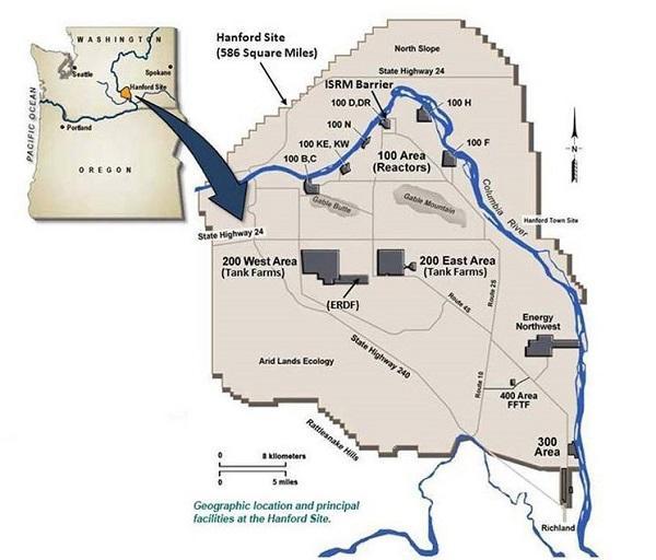 Картинки по запросу город Хэнфорд штат вашингтон на карте сша