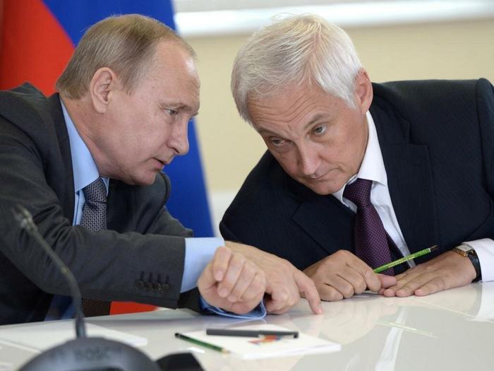 Владимир Путин и Андрей Белоусов