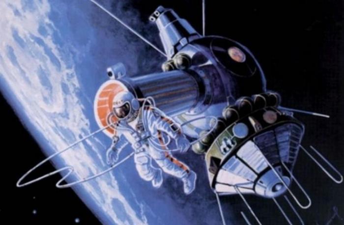 Алексей Леонов нарисовал то, что он видел в открытом космосе