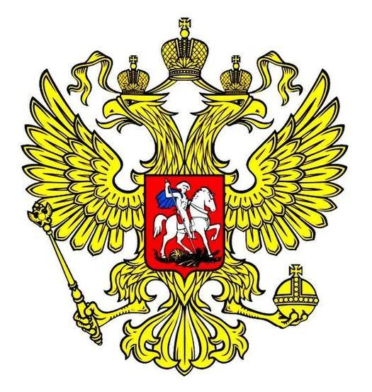 Вот так выглядит официальный российский герб.