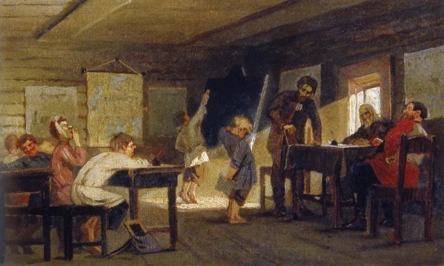 Экзамен в сельской школе. 1884