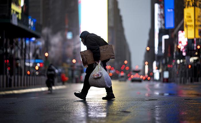 Бездомный в Нью-Йорке