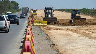На строительстве участка трассы Таврида. Архивное фото
