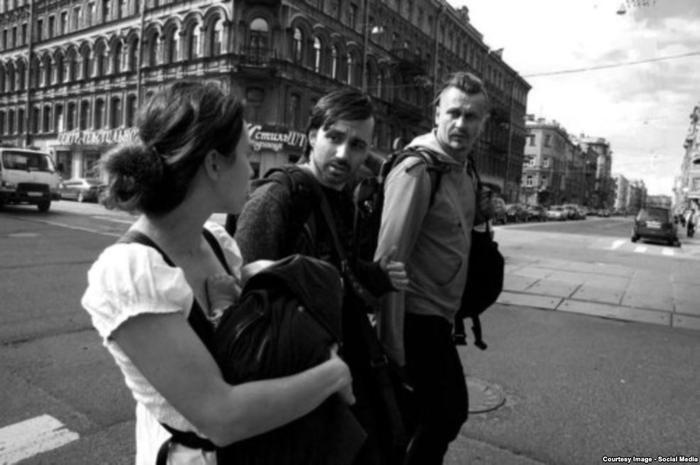 Коза, Леня и Олег в Петербурге