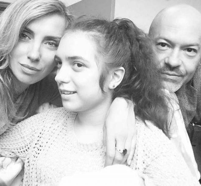 Федор Бондарчук с женой Светланой и дочерью Светланой