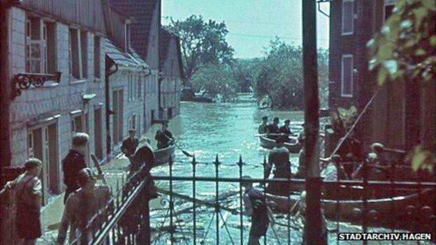 Последствия разрушения плотины в Мёне