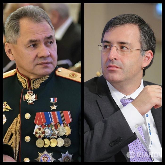 Шойгу и Гуриев. Коллаж автора из фотографий из открытых источников