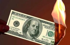 Горящий доллар