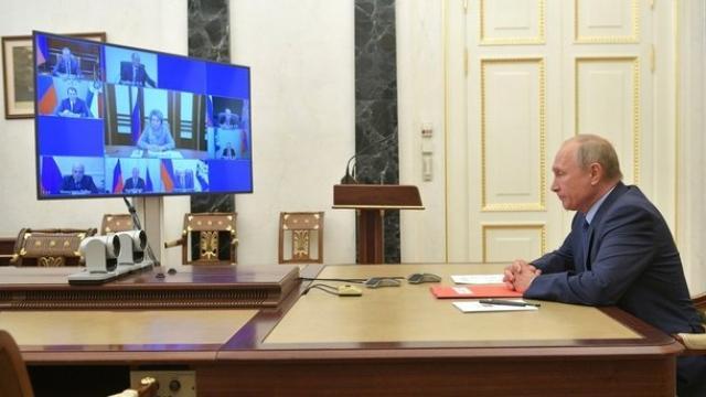 Владимир Путин провёл в режиме видеоконференции совещание с постоянными членами Совета Безопасности. 16 октября 2020 года