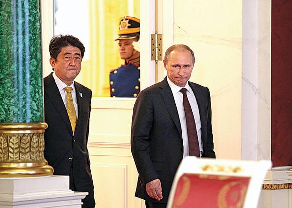 Владимир Путин, премьер министр Японии Синдзо Абэ|Фото: f2.pmo.ee