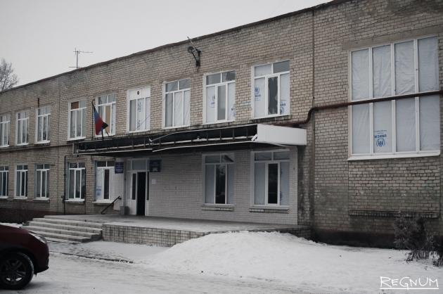 Донецк. Фасад школы №19
