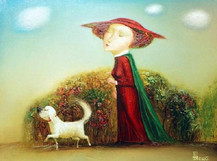 Дама с собачкой. Автор: Геннадий Шлыков.