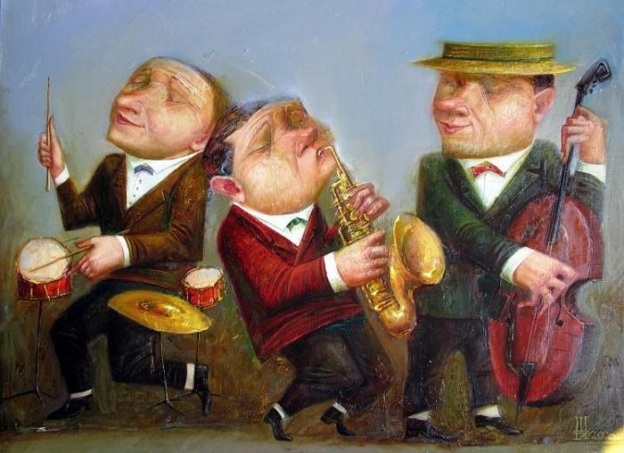 Джаз-музыканты. Автор: Геннадий Шлыков.
