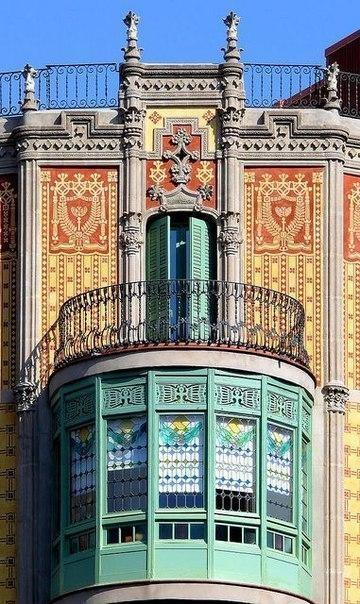 Балконы и эркеры Барселоны. 0
