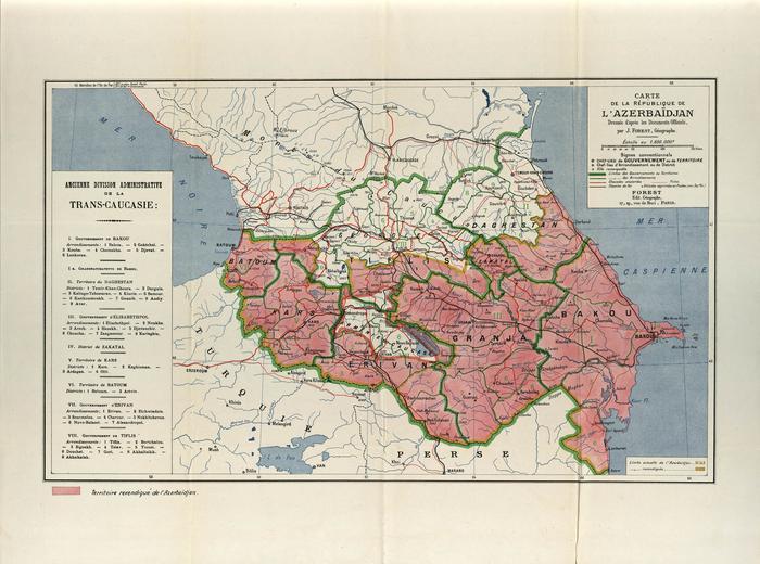 Территориальные претензии Азербайджана на Парижской конференции.
