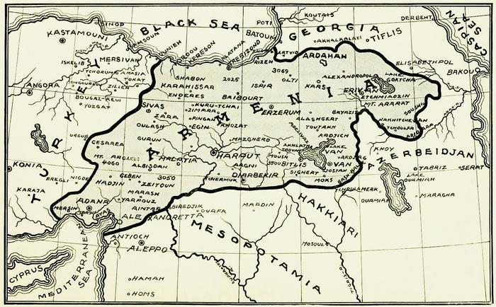 Территориальные претензии Армении на Парижской конференции.