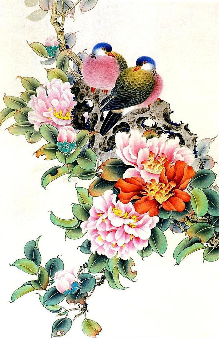 Китайские картинки цветы