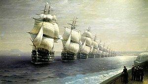 Флот в кильватерном строю