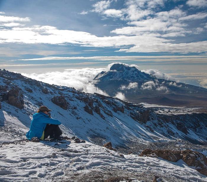 Вид с вулкана Килиманджаро