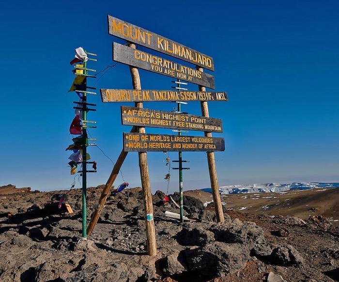 Пик вулкана Килиманджаро